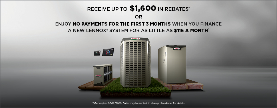 Lennox Spring 2020 Rebates and Financing Offer